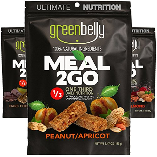 Greenbelly Backpacking Meals - Backpacking Food, Appalachian Trail Food Bars, Ultralight, Non-Cook, High-Calorie, Gluten-Free, Ready-to-Eat, All Natural Meal Bars (3 Variety) (Best Greens To Eat)