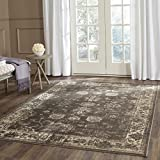 "Safavieh Vintage Collection VTG117-330 Transitional Oriental Soft Anthracite Area Rug (8' x 11'2"")"
