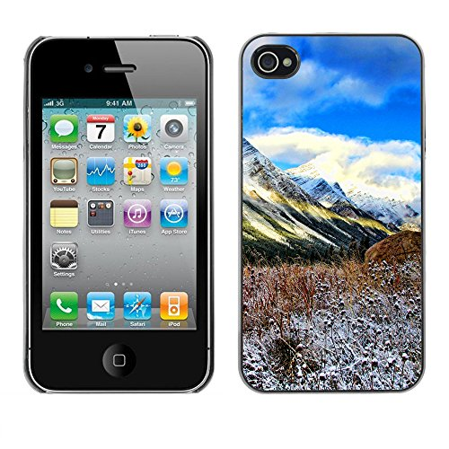 Premio Sottile Slim Cassa Custodia Case Cover Shell // F00004978 des montagnes // Apple iPhone 4 4S 4G