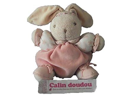 Kaloo – Doudou Kaloo conejo bola rosa brazo hoja rosa diadema sonajero – 3674