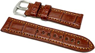 product image for DaLuca OEM Style Alligator Watch Strap - Brown : 22mm