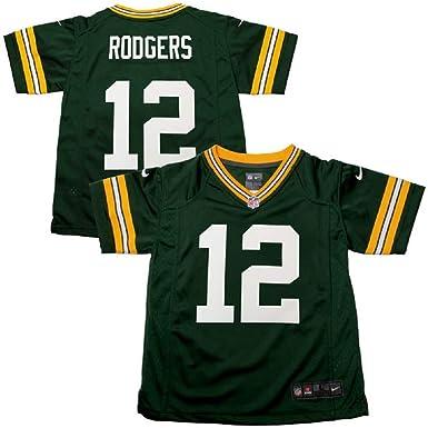 Amazon.com : Nike Aaron Rodgers Green Bay Packers Pre-School/Kids ...