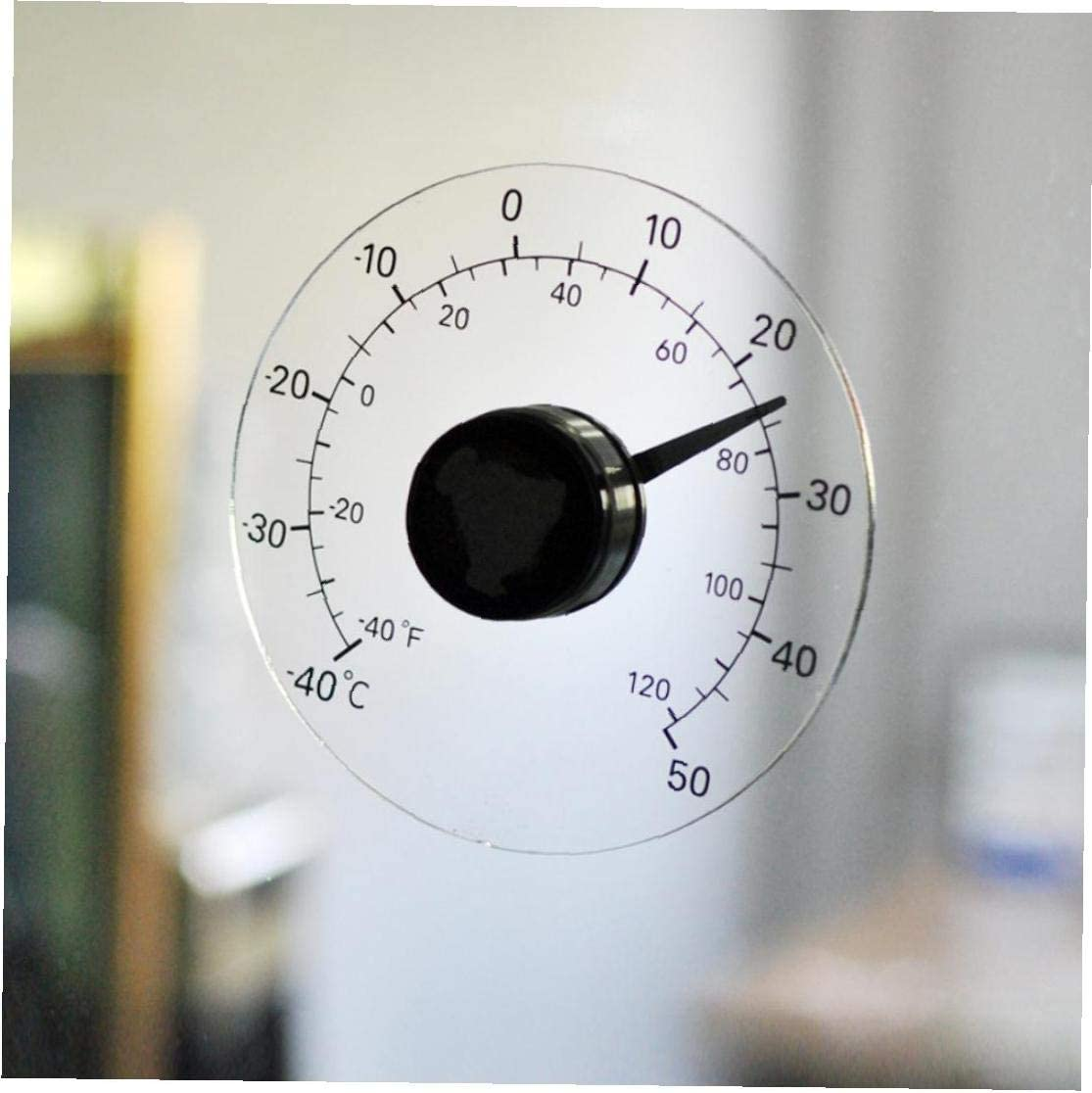 Term/ómetro Exterior Autoadhesivasfabricamos Puertas Y Ventana Transparente a Prueba De Agua Sin La Bater/ía Term/ómetro Pegar Medidor De Temperatura para 1pc Al Aire Libre