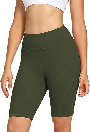 DIBAOLONG Womens Yoga Shorts High Waist Workout Running Tummy Control Athletic Biker Shorts