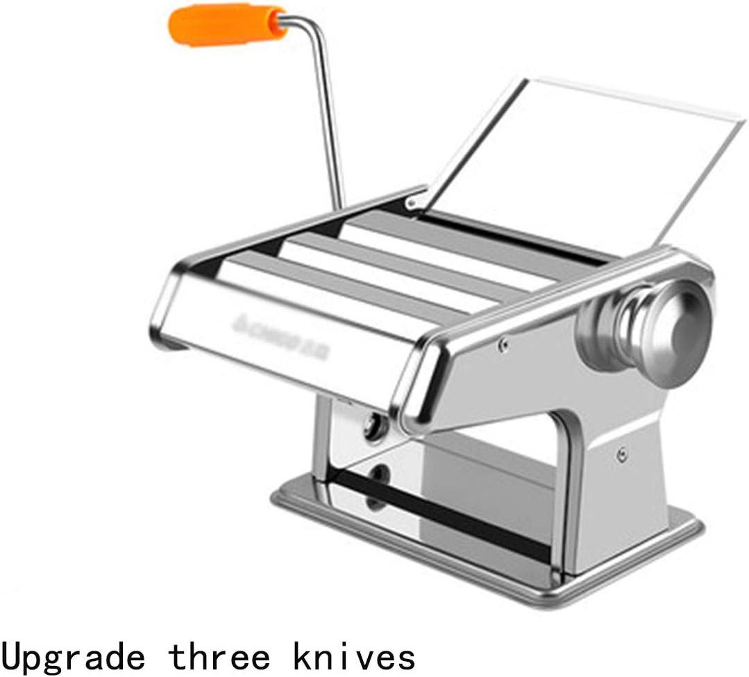 Máquina de pasta, máquina de cortar pasta manual, máquina de pasta de acero inoxidable, máquina de pasta italiana de fideos anchos, máquina de pasta fresca Ravioli para la cocina del hogar, 8th Gear B
