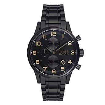 fa631999d Image Unavailable. Image not available for. Color: HUGO BOSS 1513275 MEN'S  CHRONOGRAPH WATCH BLACK