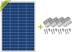 Newpowa 100 Watts 12 Volts Polycrystalline Solar Panel add a Set of Z Bracket Rv Marine Boat Off Grid