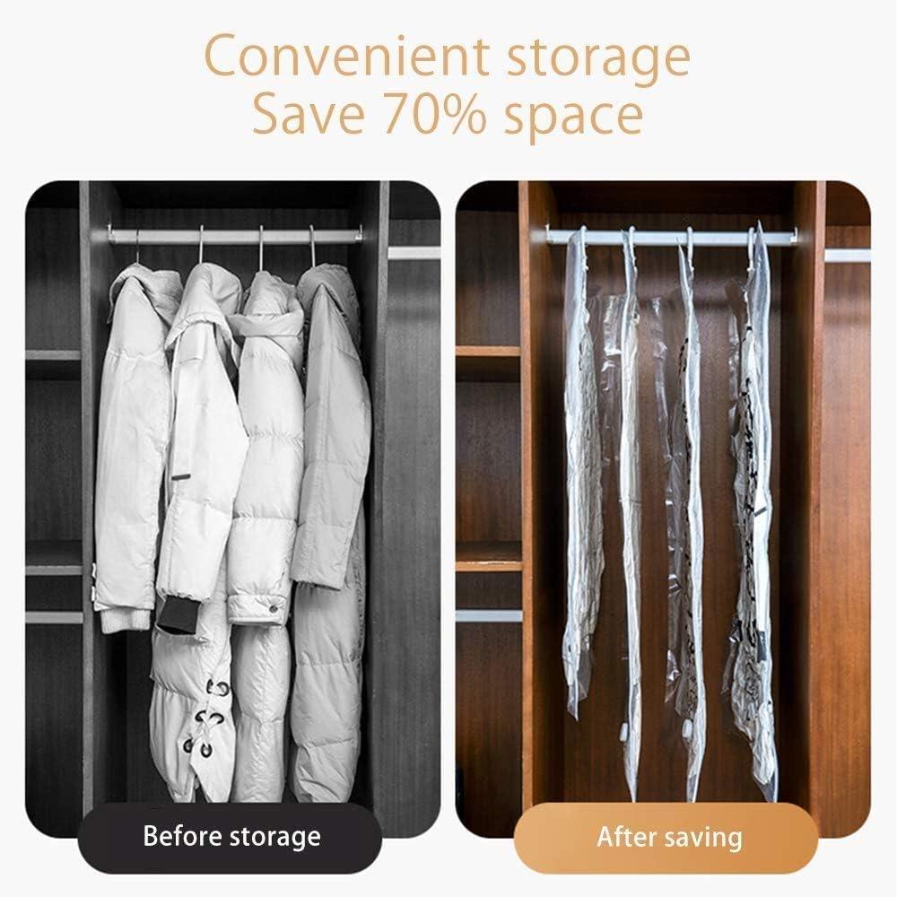 riutilizzabili rivestimenti ZIHOO Sacchetti per conservare sottovuoto per abiti giacche e altri vestiti 4 pezzi M x 3 x L x 3 pezzi