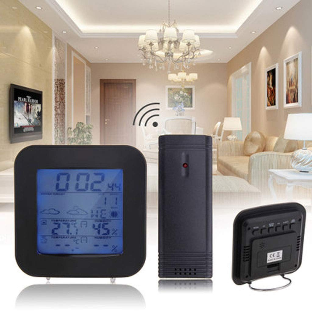 MSNDD LCD Wireless Weather Station Sensor Digital Thermometer