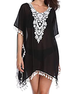 20e2dc6ce7 ALLRoad Womens Beach wear Cover Ups Swimwear Kaftans Swimsuit Blouse Loose Beach  Dress