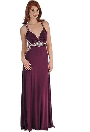 075de1e9859d ASPEED DESIGNS Women Formal Dress Size 18 Solid Purple Hand Beaded Evening  Bridal Prom Bridesmaids