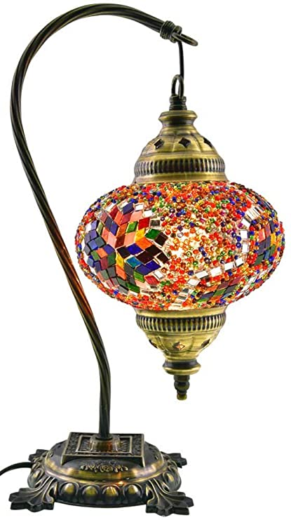 Amazon table lampswan necklamp shadearabian mosaic lamps table lampswan necklamp shadearabian mosaic lamps moroccan lantern audiocablefo