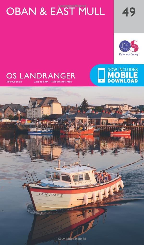 LR049: Oban & East Mull (OS Landranger Map) 1:50K pdf epub