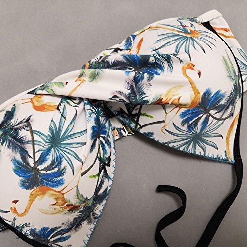 Fashionyoung Damen Neckholder Bikini Push up Vintage Blumenmuster ...