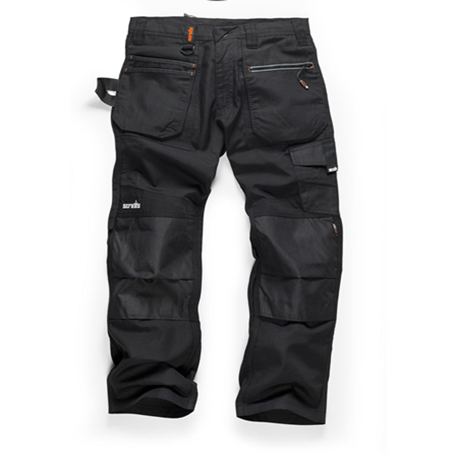 Various Sizes, Short, Regular and Long Leg Scruffs Ripstop Trade Hardwearing Black Work Trousers with Multiple /& Knee Pad Pockets
