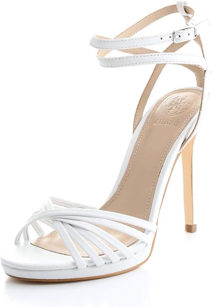 Guess Dames Tonya/Sandalo (sandal)/leren riempje, wit Wit