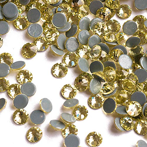 (Facerain Flatback Hotfix Rhinestones Crystal Iron on Glue Glass Stones SS6-SS30 (Jonquil, SS20))