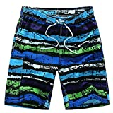 New Surfing & Shorts Men Geometric Summer Swimwear Boxer Trunks M-6XL Purple M