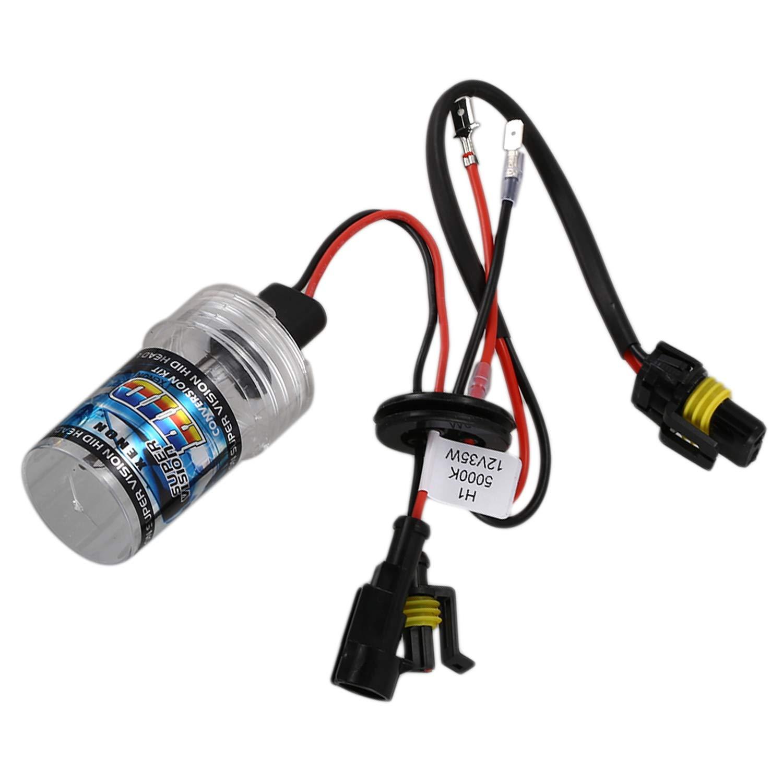 Moligh doll 2 x Bombillas de Xenon HID de sustitucion de lampara H1 35W 5000K