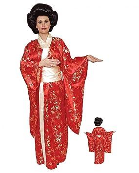 Geisha Kimono Traje superior rojo: Amazon.es: Juguetes y juegos