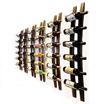 Amazoncom Wall Mounted Wine Rack Barrel Stave Hanging Wooden Wine