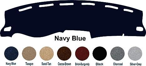 The ArtDeco 1997, 1998 Chevy Silverado P/U Truck Dash Cover Mat Pad All  Models (Custom Carpet, Navy Blue)