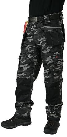55ddb01d New Mens Lee Cooper Multi Pocket Knee Pad Pocket Mobile Pocket Combat Cargo  Work Trouser Holster