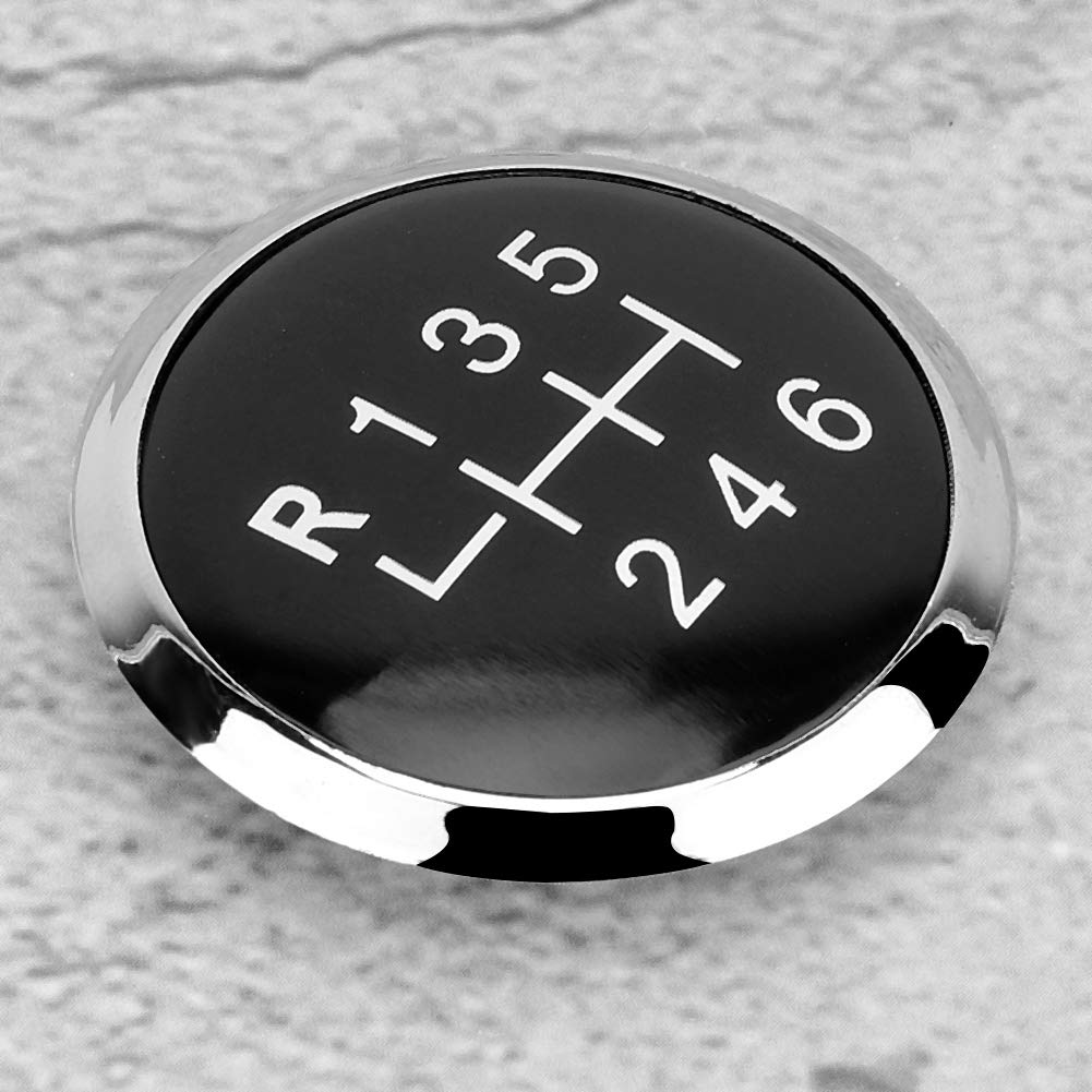 Tapa de Perilla de Cambio de Marchas Coche 6 Velocidades Tira de Palanca de Cambio de Marchas Cubierta de Palo Emblema Insignia Tapa de Ajuste para T5 T5.1