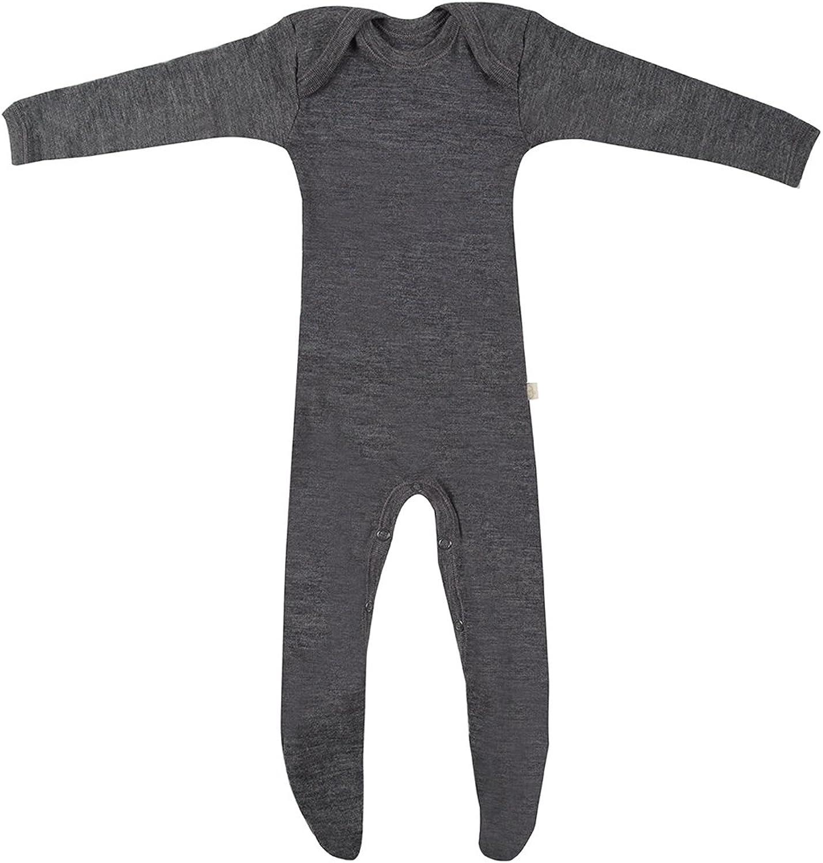 100/% BIO-Merinowolle NEU DILLING Baby Leggings dunkelgrau meliert