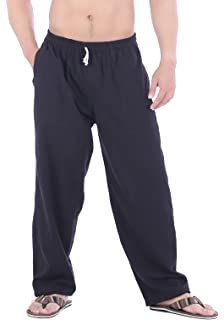 cc6a4ca2c8 CandyHusky Mens Elastic Waist Casual Lounge Pajama Jogger Yoga Pants Cotton