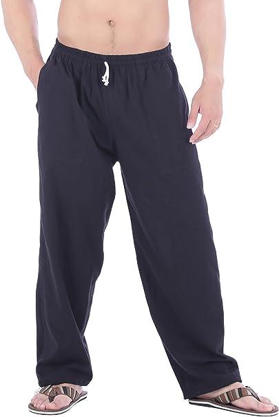 Amazon.com: CandyHusky - Pantalones de yoga para hombre ...