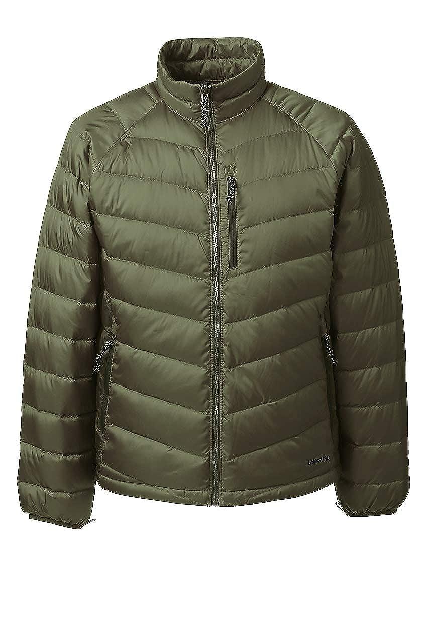 24367e94010 Lands' End Men's 800 Down Packable Jacket at Amazon Men's Clothing store: