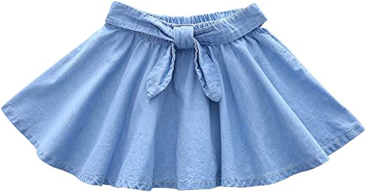 Mealeaf Falda de Jean para niñas (12 M-7 años): Amazon.es: Hogar