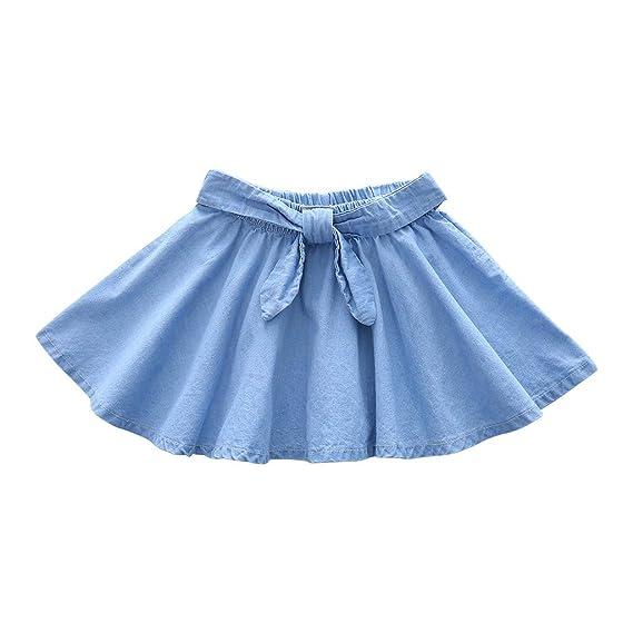 LMRYJQ- Falda Moda para niñas Ropa Linda para niños Falda Vaquera ...
