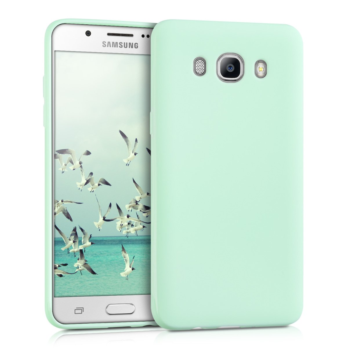 kwmobile TPU Silicone Case for Samsung Galaxy J5 (2016) DUOS - Soft Flexible Shock Absorbent Protective Phone Cover - Mint Matte