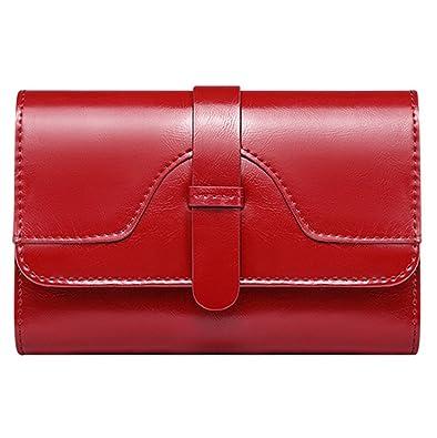 bd58fc98e4c2 Amazon   財布 レディース 二つ折り 縦型短財布 ふたつおり 三つ折り ...