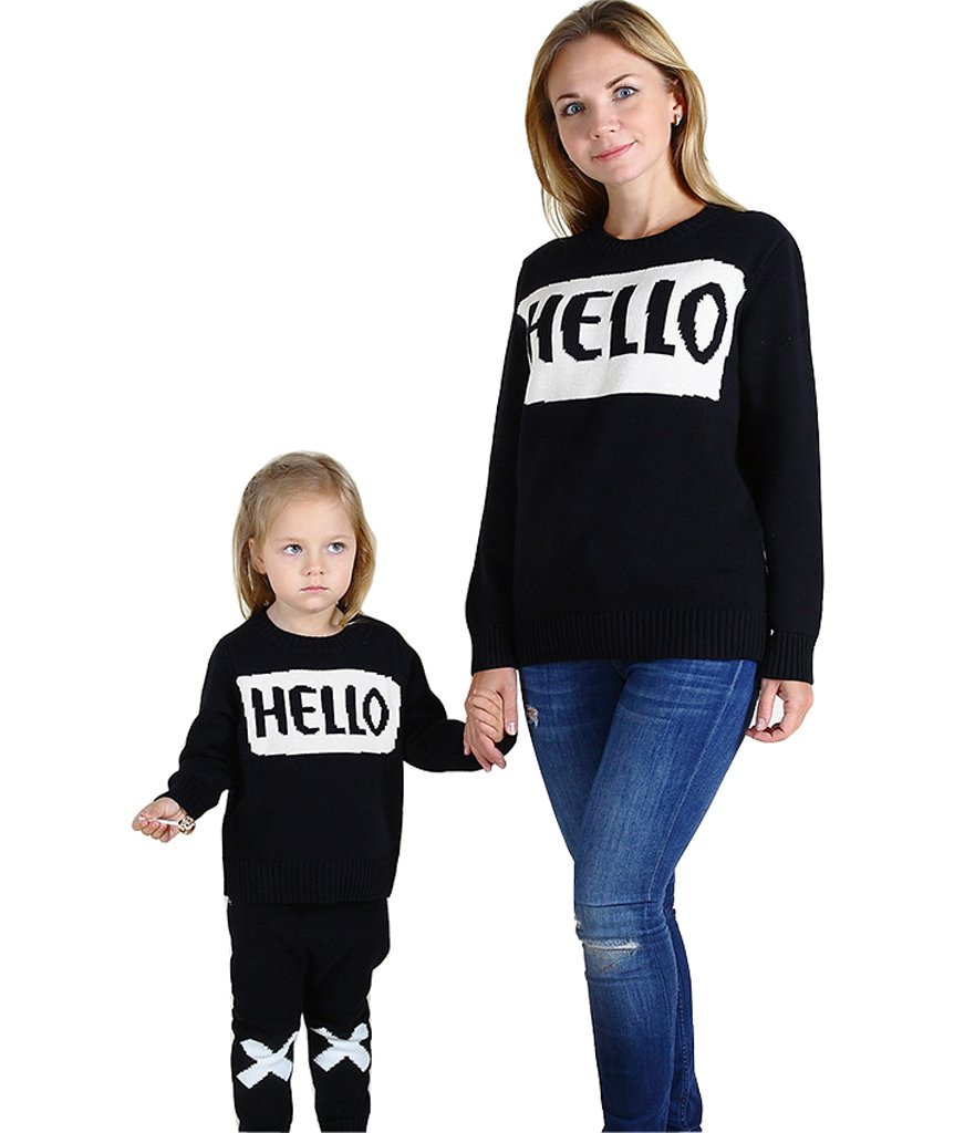 Wennikids Family Look Clothing for Mother/Daughter/Son Long-Sleeve T-Shirt Sweater LC-OURS-8030A