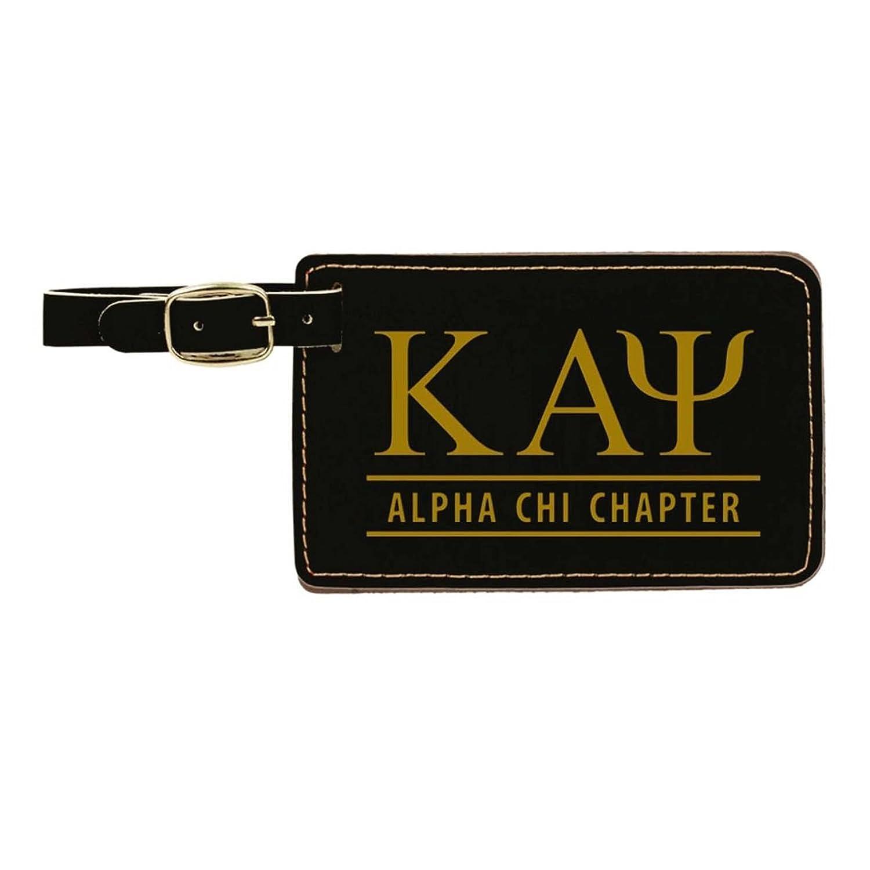 314fdf4d7d98 Kappa alpha psi leatherette luggage tag black luggage tags jpg 1500x1500 Alpha  kappa luggage tags