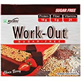 Rite Bite Work Out Sugar Free Energy Bar - 50 g (Choco Berry, Pack of 6)