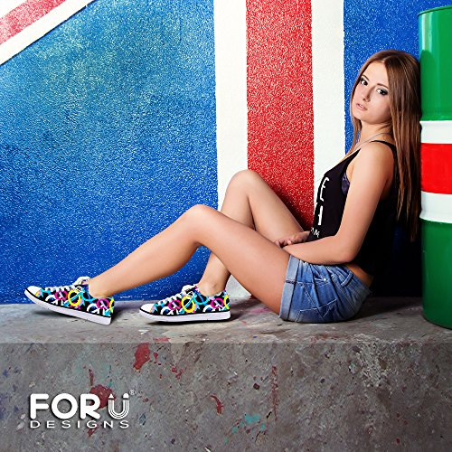 Para U Diseños Elegante Unisex Low Top Canvas Zapatos Lace Up Lightweight Sneakers Cool 1