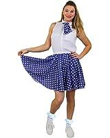 I Love Fancy Dress ILFD7033PS Ladies Short Polka Dot Skirt  Length - 17 Inches Long / UK 14-18