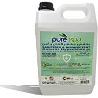 PURE NATURAL HYPOCHLOROUS SANITIZER & DISINFECTANT LIQUID, 5LTRS - SAFE ON ALL SURFACES (DM Approved)