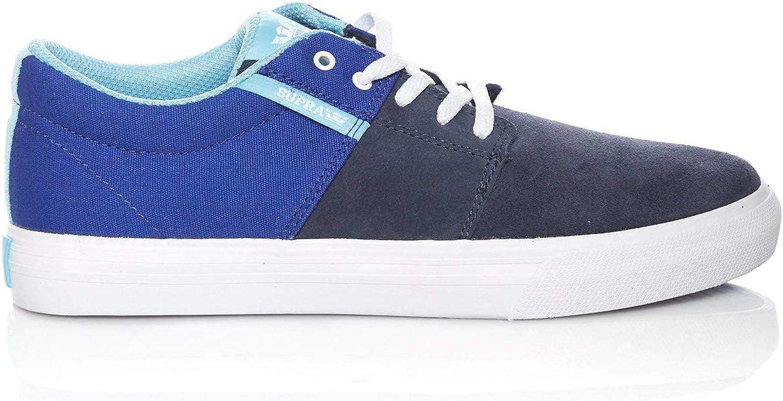 Supra Children Kids Stacks II Vulc Royal Navy White Shoes Size 6