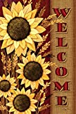 Toland Home Garden Welcome Sunflowers 28 x 40 Inch Decorative Fall Autumn Flower House Flag Review
