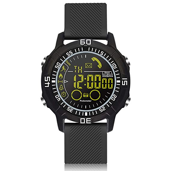 ROADTEC Men Digital Sport Smart Watches, 5ATM Waterproof Bluetooth 4.0 Fitness Tracker Watch with Pedometer Stopwatch Call SMS Notification Remote ...