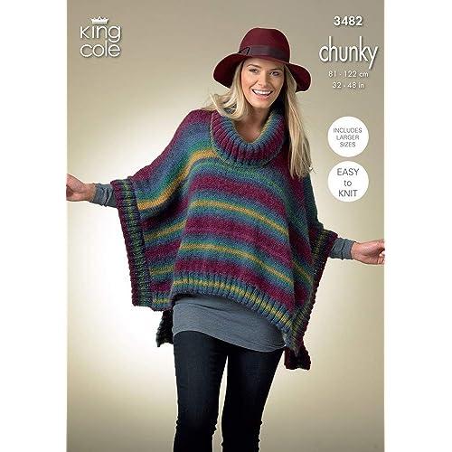 Knitting Poncho Patterns Amazon