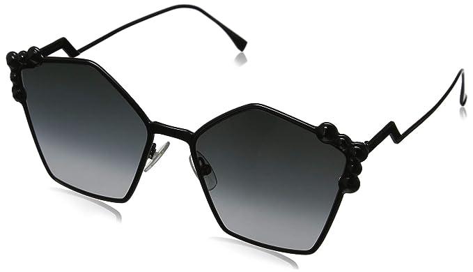 Fendi FF 0261/S 9O 2O5 Gafas de sol, Negro (Black/Grey), 57 ...