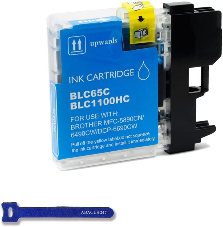 1 Yellow Compatible Ink fit  LC-65Y MFC-5890CN MFC-6490CW MFC-6890CW