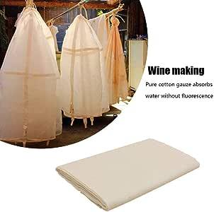 Tela de Queso, Tela de Muselina 100 algodón orgánico - 40s Filtro de algodón Ultrafino Natural - Tela de Filtro - Filtro repetible Yogur - Tela de Gasa: Amazon.es: Hogar