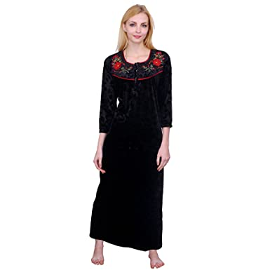 Romaisa Women s Velvet Nighty (VLN218-308 6fc7c7310